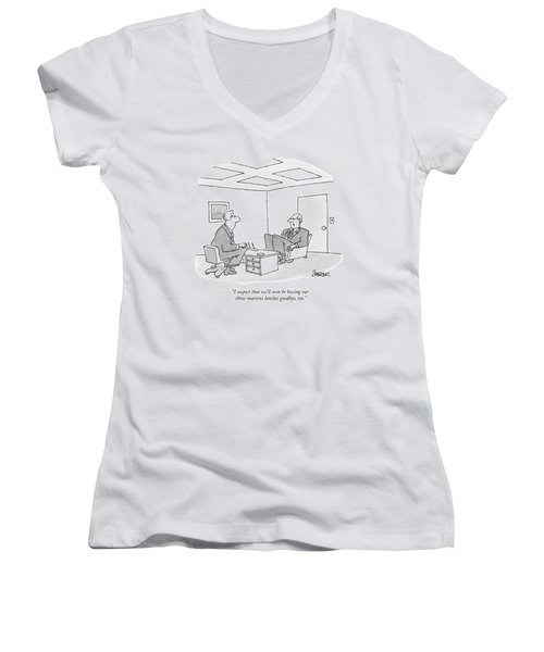 I Suspect That We'll Soon Be Kissing Women's V-Neck