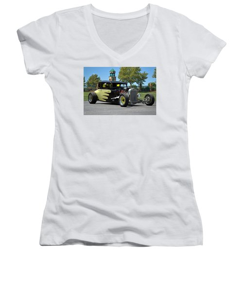 1930 Ford Coupe Hot Rod Women's V-Neck