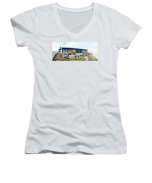 High Angle View Of A Baseball Stadium Women's V-Neck T-Shirt (Junior Cut)