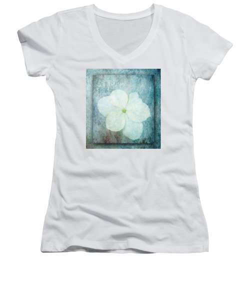 Hydrangea Women's V-Neck T-Shirt (Junior Cut) by Lynn Bolt