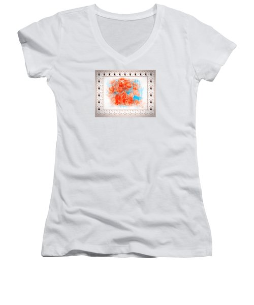 The Orange Roses Women's V-Neck T-Shirt