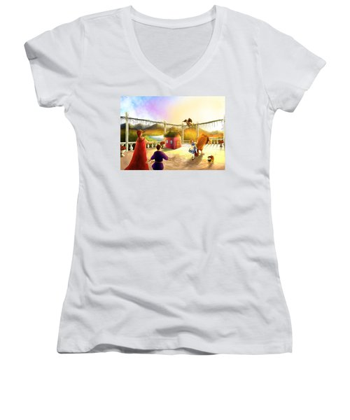 The Palace Balcony Women's V-Neck (Athletic Fit)