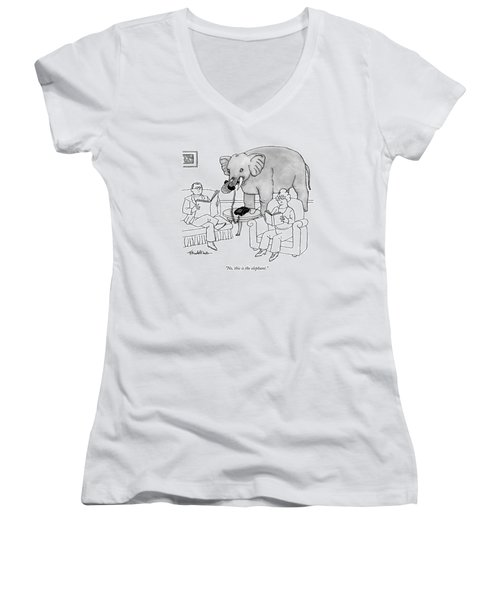No, This Is The Elephant Women's V-Neck