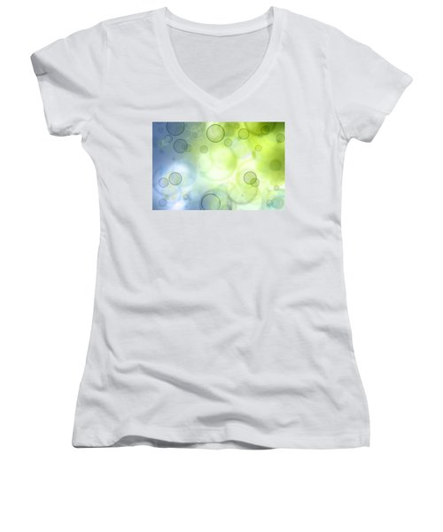 Abstract Circles 44 Women's V-Neck (Athletic Fit)