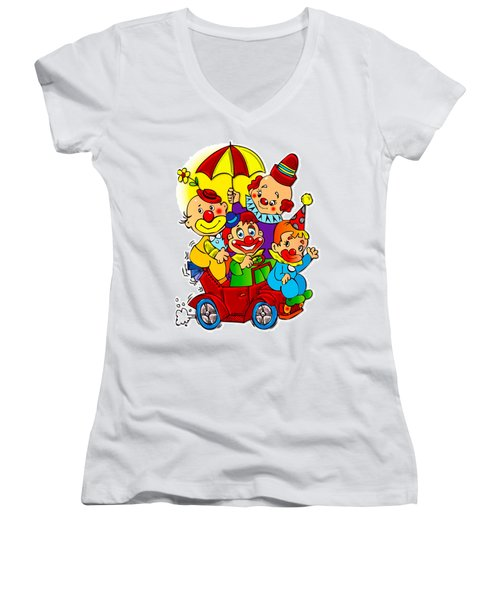 Clowns Series 01 Women's V-Neck (Athletic Fit)