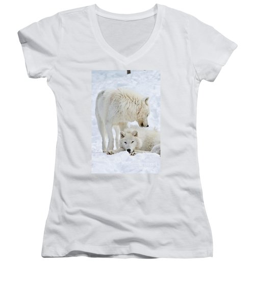 Arctic Wolves Women's V-Neck (Athletic Fit)