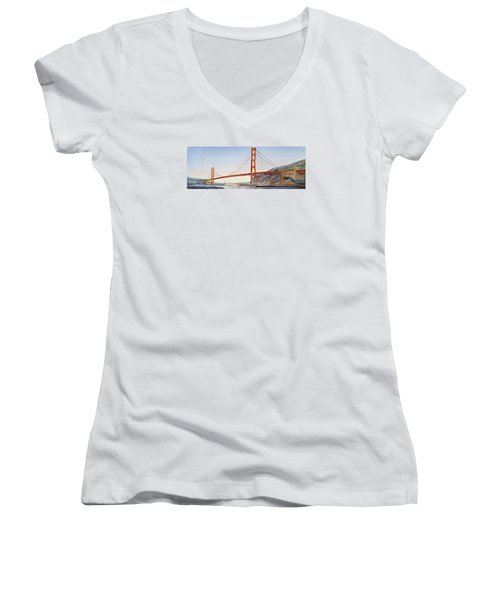 Golden Gate Bridge San Francisco Women's V-Neck