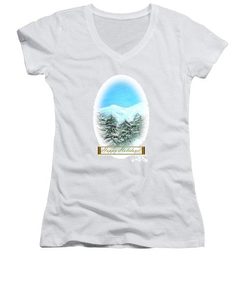 Happy Holidays. Best Christmas Gift Women's V-Neck T-Shirt