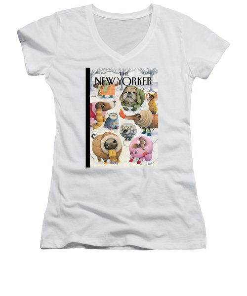 New Yorker February 8th, 2010 Women's V-Neck T-Shirt