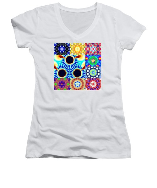 432hz Cymatics Grid Women's V-Neck
