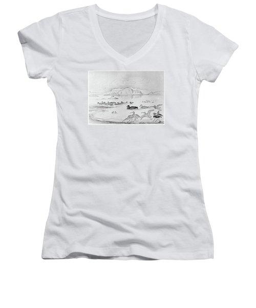Blackburn Birds, 1895 Women's V-Neck T-Shirt