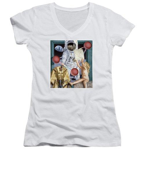 Instructions Women's V-Neck T-Shirt