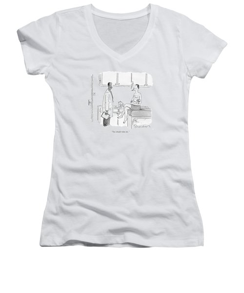 You Should Relax Less Women's V-Neck