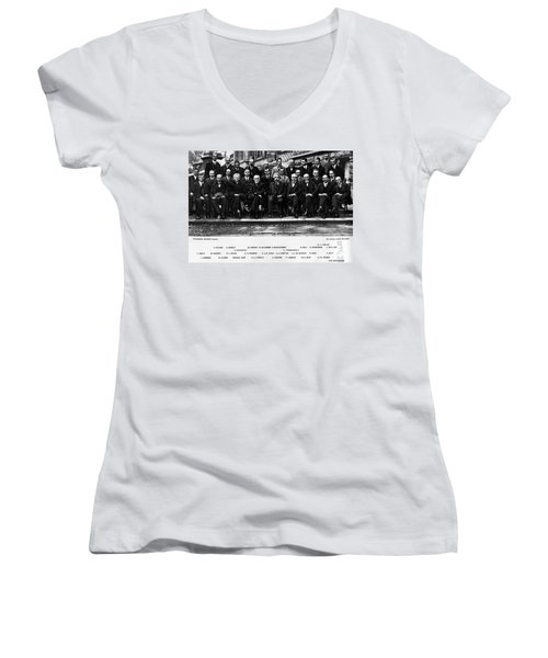 5th Solvay Conference Of 1927 Women's V-Neck