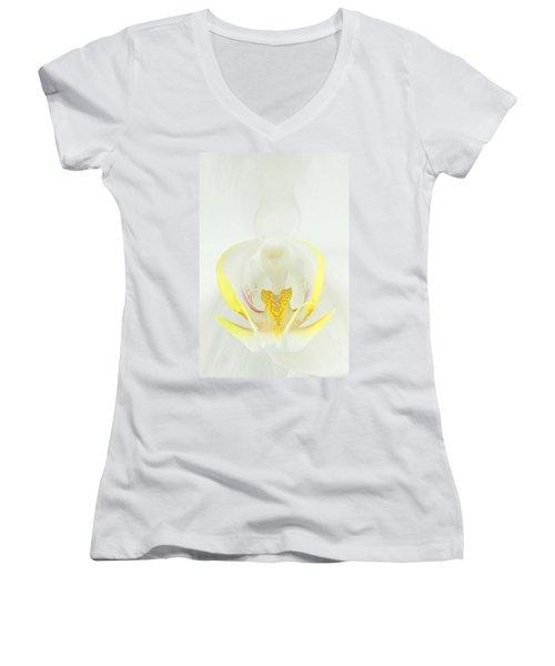 White Orchid-3 Women's V-Neck