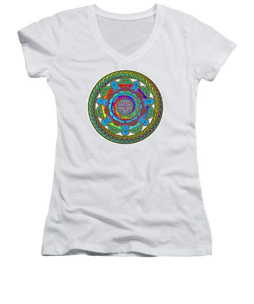 7 Fish Rainbow Yahushuah Messiah Women's V-Neck