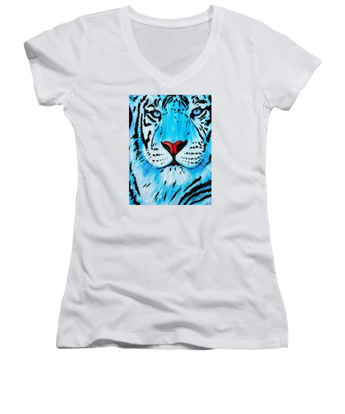 Blue Bengal Women's V-Neck