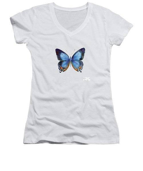 80 Imperial Blue Butterfly Women's V-Neck