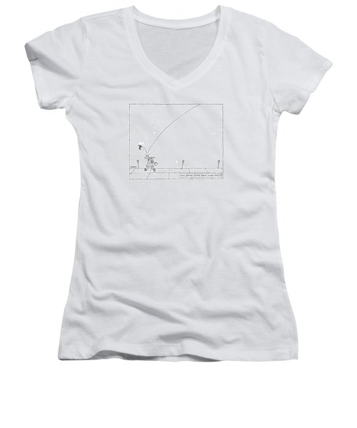 Tiny Grand Piano From Outer Space! Women's V-Neck