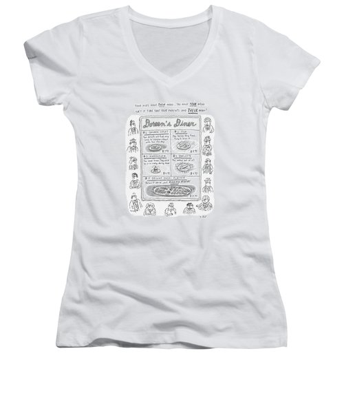 Doreen's Diner Women's V-Neck