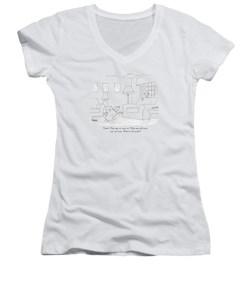 Look. They Say Sit Women's V-Neck