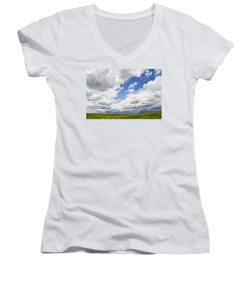 A Cloudy Day Women's V-Neck (Athletic Fit)