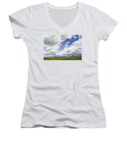 A Cloudy Day Women's V-Neck T-Shirt