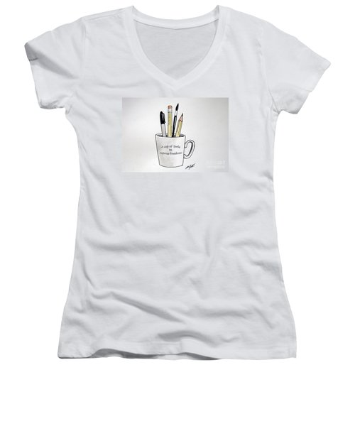 A Cup Of Tools To Express Freedom Women's V-Neck