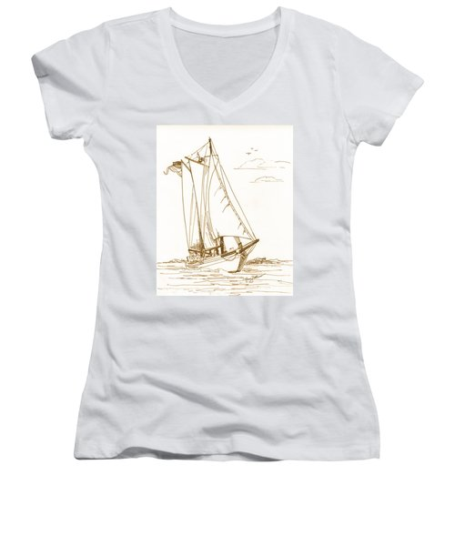 A Day On The Bay Women's V-Neck (Athletic Fit)