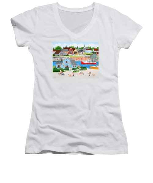 A Day With Dad Women's V-Neck (Athletic Fit)