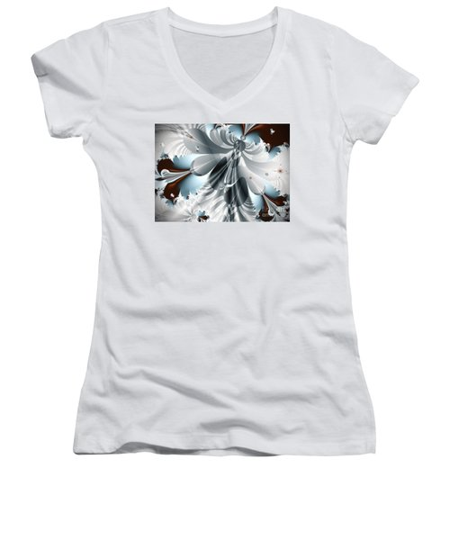 A Deeper Reflection Abstract Art Prints Women's V-Neck (Athletic Fit)
