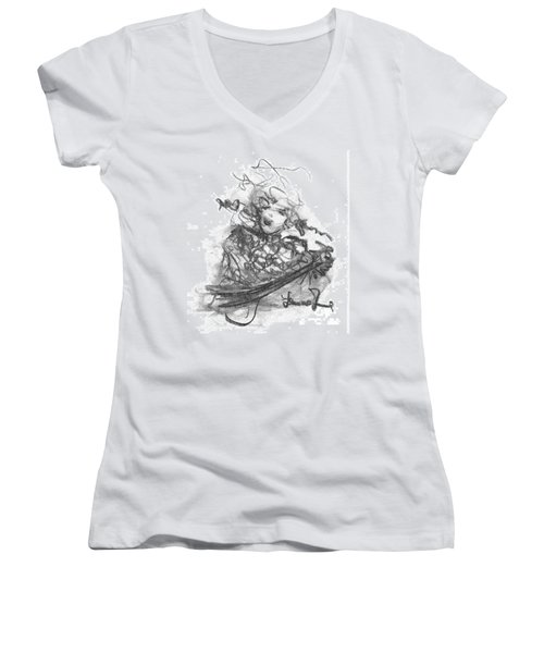 A Great Musician Women's V-Neck T-Shirt (Junior Cut) by Laurie L