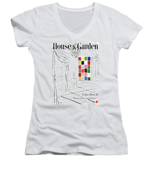 A House And Garden Cover Of Color Swatches Women's V-Neck