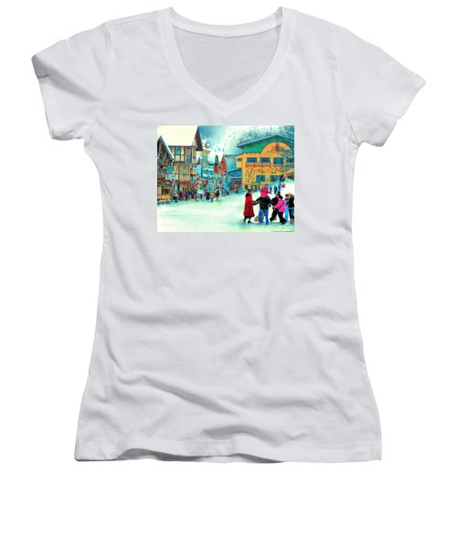 A Joyful Time Women's V-Neck T-Shirt