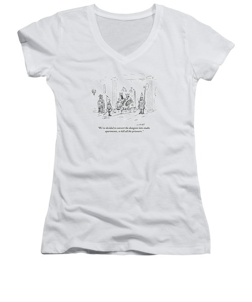 A King And Queen In The Royal Court Give Orders Women's V-Neck (Athletic Fit)