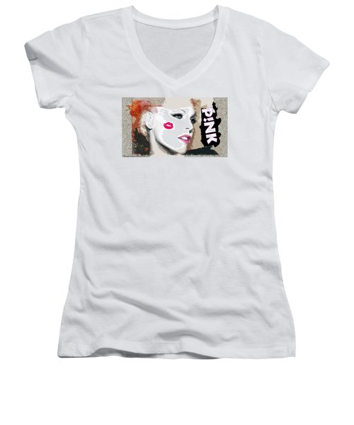 A Kiss On The Cheek Women's V-Neck