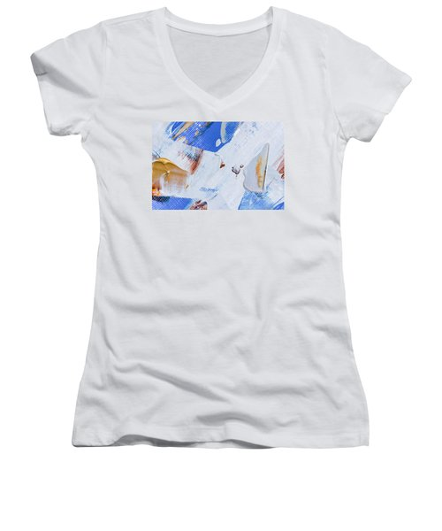 A Little Blue Women's V-Neck T-Shirt (Junior Cut) by Heidi Smith