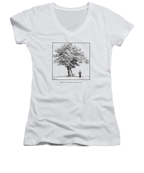 A Man Says To His Dog Women's V-Neck