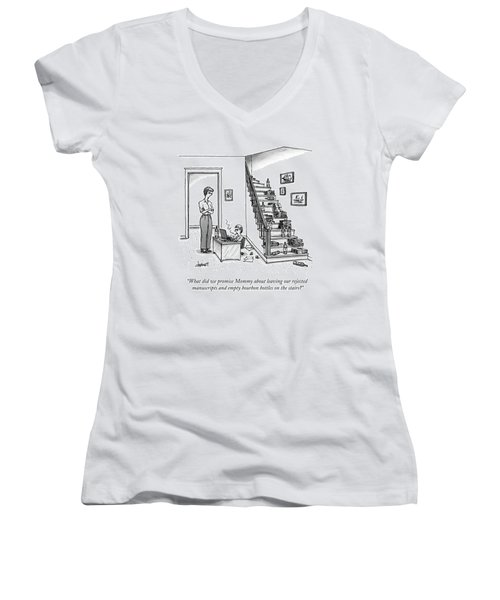 A Mother Speaks To Her Son Women's V-Neck