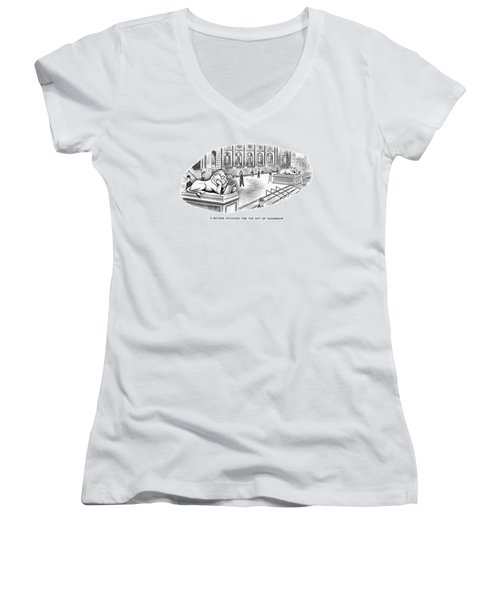 A Revised Statuary For The City Of Tomorrow Women's V-Neck