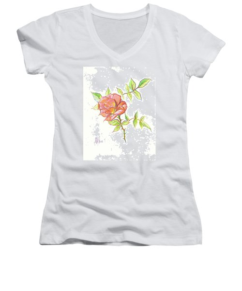 A Rose In Brigadoon Women's V-Neck (Athletic Fit)