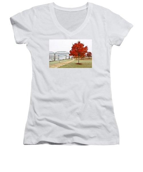 A Soft Autumn Day Women's V-Neck