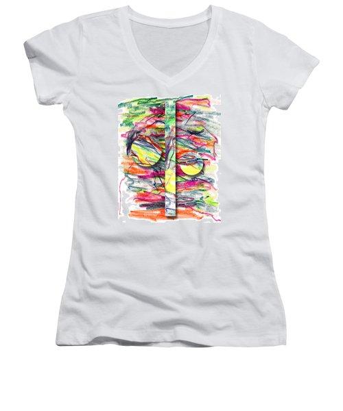 A Summers Day Breeze Women's V-Neck T-Shirt (Junior Cut) by Peter Piatt