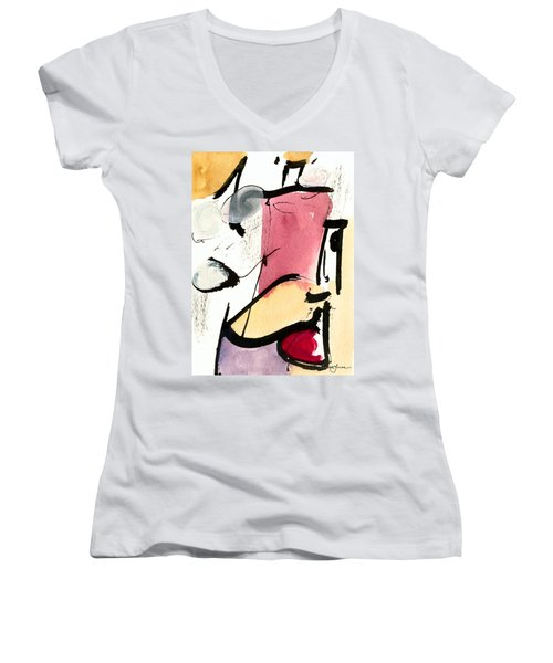 Women's V-Neck T-Shirt (Junior Cut) featuring the painting A Thing Of Beauty by Stephen Lucas