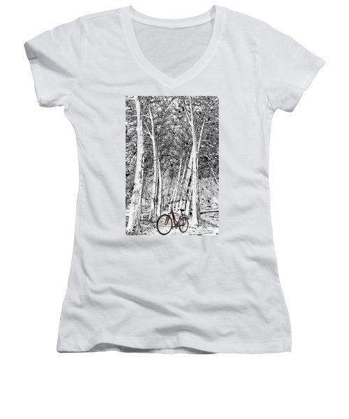 A Touch Of Red Women's V-Neck (Athletic Fit)