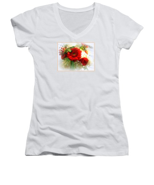 A Vision In Red Women's V-Neck (Athletic Fit)