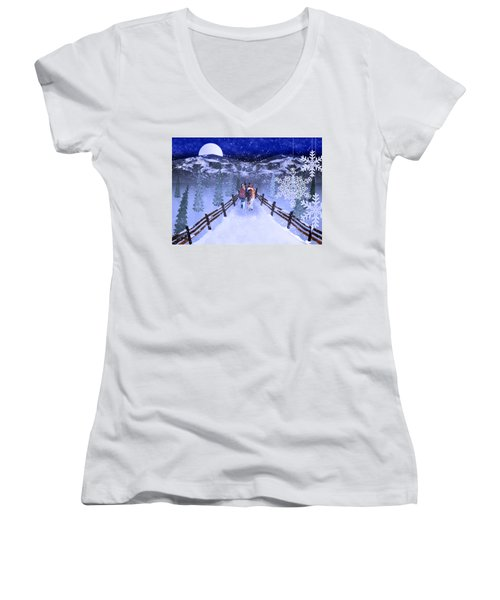 A Walk In The Snow 2 Women's V-Neck