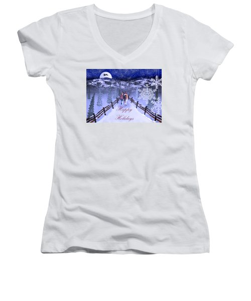 A Walk In The Snow Women's V-Neck