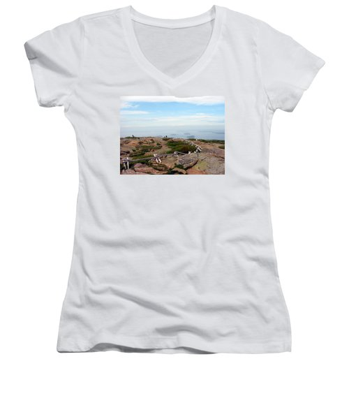 A Walk On The Mountain Women's V-Neck T-Shirt
