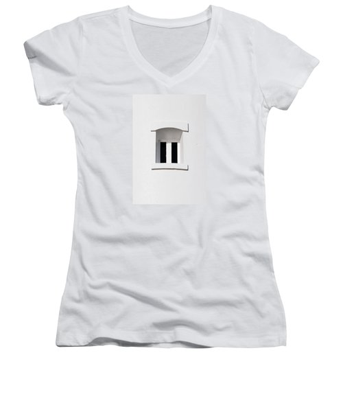 A Window In White Women's V-Neck (Athletic Fit)